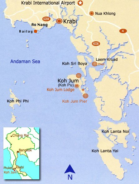 Koh Jum Lodge - Location